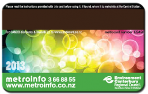 Back side of Cando card 2013